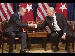 امریکی صدر ڈونلڈ ٹرمپ ءِ گوما ترک صدر اردوان ءِ گند ءُُ نند