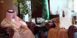 وزير الشؤون الإسلامية يستقبل سفير البحرين لدى المملكة