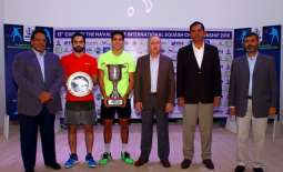 Youssef Ibrahim from Egypt wins 13th CNS Int'l Squash Championship