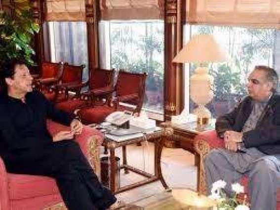 وزيراعظم عمران خان سره د سندھ ګورنر عمران اسماعيل ملاقات كراچۍ كښې د تجاويزاتو په ضد په روانو عملياتو د خيالاتو څرګندونه