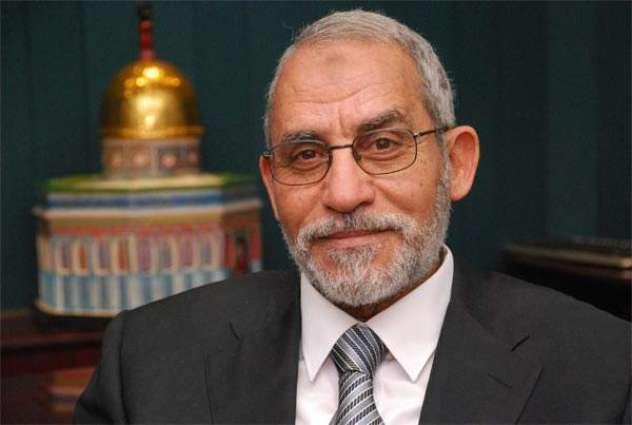 السجن الموٴبد لستة أشخاص من بینھم الأمین العام لجماعة الاخوان المسلمین في مصر