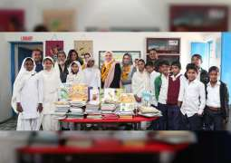 'Kan Yama Kan' provides over 500 books to Indian school