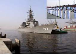 Japanese navy ship visited Karachi and conducted bilateral exercise with Pakistan navy
