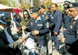 The Azad Jammu and Kashmir (AJK) Traffic Police launches awareness campaign for road safety