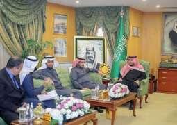 الأميرعبدالعزيز بن فهد بن تركي يستقبل مدير جامعة الجوف ويطلع على دراسة الجدوى من زراعة الزيتون