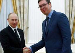 Putin Gives Serbian President Ride on Russian-Made Aurus Limousine