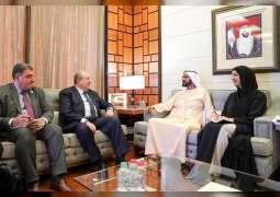 محمد بن راشد يستقبل الرئيس الأرميني