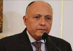 وزير الخارجية المصري: سنعمل على إنجاح القمة الاقتصادية ببيروت