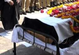 Funeral prayer of Traffic Constable held at Police Headquarters Karachi