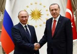 بوتين و اردوغان يبحثان في موسكو التسوية السورية - الكرملين