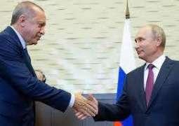 أردوغان: حجر الأساس لاستقرار سوريا هو التعاون بين روسيا وتركيا