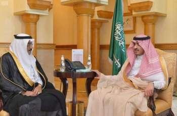 نائب أمير مكة المكرمة يستقبل رئيس هيئة المساحة الجيولوجية السعودية