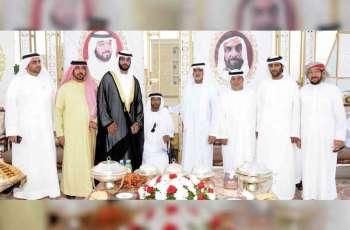 نهيان بن مبارك يحضر أفراح المزروعي والهاملي في أبوظبي