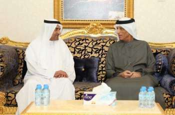 Saud bin Saqr receives condolences of Fujairah Ruler on death of Sheikha Noura Al Qasimi