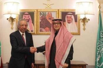 سفير خادم الحرمين الشريفين لدى لبنان يلتقي رئيس اتحاد المصارف العربية
