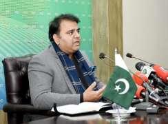 وفاقی وزیر اطلاعات و نشریات چوہدری فواد حسین اتے مواصلات و پوسٹل سروسزدے وفاقی وزیر مراد سعید دی ملاقات