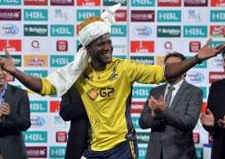 Peshawar Zalmi's Darren Sammy arrives in Pakistan for kit launch