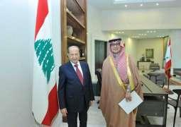 الرئيس اللبناني يستقبل المستشار نزار العلولا