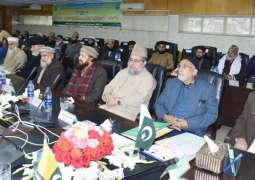 Masood urges ulema to strive for welfare society based on justice, equity
