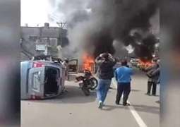Extremists torch dozens of vehicles of Muslims in Occupied Kashmir