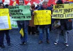 Organizers of Protest in New York Demand US Stop Intervening in Venezuelan Affairs