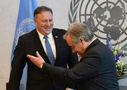 Pompeo, UN Secretary-General Discuss Situation in Venezuela - Spokesman