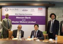 Meezan Bank and Master Motors Limited sign a Memorandum of Understanding for Promoting Master Motors Limited – Changan