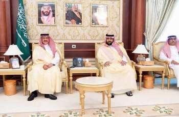 أمير منطقة جازان بالنيابة يستقبل الأمير عبدالعزيز بن سطام
