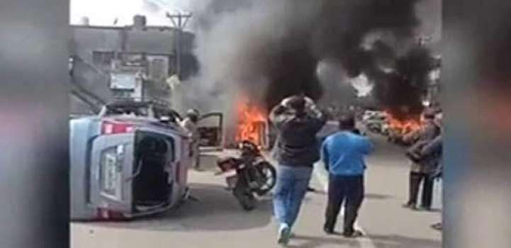 Extremists torch dozens of vehicles of Muslims in Occupied Kashmi ..