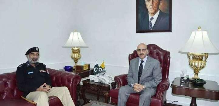 IG AJK Salahuddin Mehsud Calls On President Masood Khan