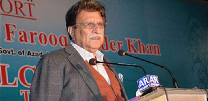 Azad Jammu and Kashmir Prime Minister Raja Farooq Haider Khan o t ..