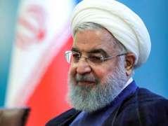 الرئیس الایراني حسن روحاني یرفض قبول استقالة وزیر الخارجیة الایراني جواد ظریف