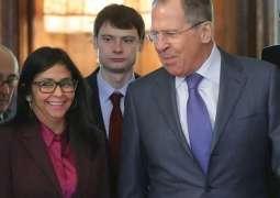 Lavrov, Venezuelan Vice President to Discuss Bilateral Ties, Venezuela Crisis on Friday