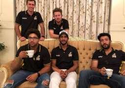 Peshawar Zalmi players enjoy desi breakfast in Karachi