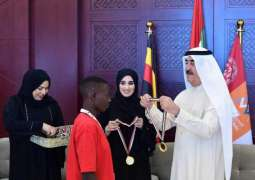 UAQ Ruler receives delegations from Ghana, Uganda participating in Special Olympics