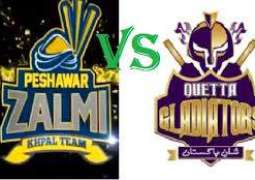 PSL-4: Peshawar Zalmi won the toss and opted to ball first against Quetta Gladiators