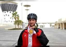 Three gold medals for UAE national cycling team in Special Olympics