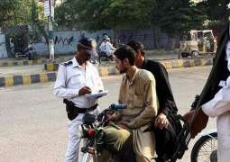 Police seize seven motorcycles with fake number plates in Karachi