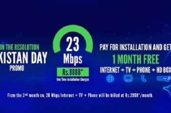 StormFiber Launches a 23Mbps Triple Play + HD Box Promo for Pakistan Day