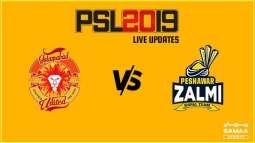 PSL-4 Eliminator-II: Peshawar Zalmi set target of 215-run for Islamabad United