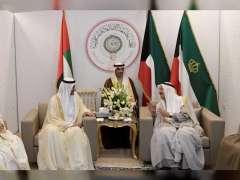 حاكم الفجيرة يلتقي أمير الكويت والأمين العام للأمم المتحدة على هامش القمة العربية بتونس