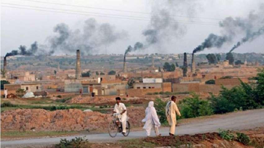 Brick kilns working at full pelt in rural Punjab