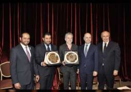 """ضمن مبادرات """"عام التسامح"""".. سفير الدولة في بيروت يطلق عملا فنيا مشتركا يخصص عائده للعمل الخيري"""