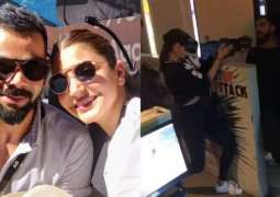 Anushka Sharma-Virat Kohli get goofy in Bangalore, play with laser tag