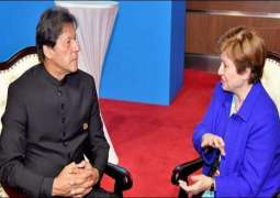 PM Khan holds meetings with World Bank CEO, IMF MD in Beijing