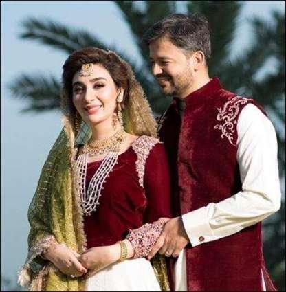 Aisha Khan celebrates first anniversary with husband
