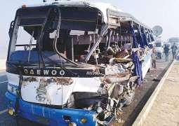 3 killed, 20 others injured after passenger coach overturns