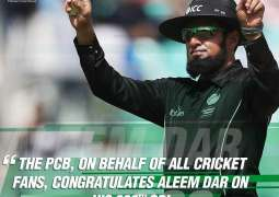 PCB congratulates Aleem Dar on completing double-century of ODIs