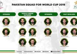 Pakistan finalises make-up of World Cup squad