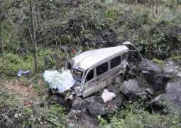 Three killed, passenger van plunges into ravine